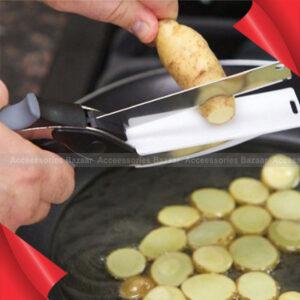 Smart Knife Cutter Stainless Steel Vegetable Scissors Watermelon Slicer