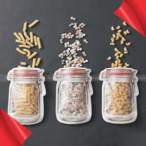 1Set Travel Portable Jar Jam Cup Style Food Bags Baked Snack Storage Bags