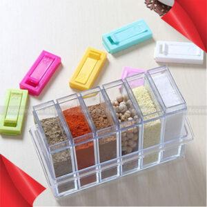 6pcs set Spice Jar Storage Boxes Spices Storage Box Seasoning