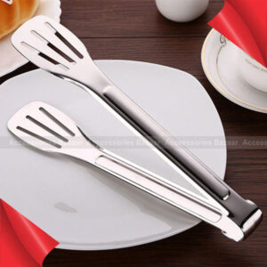 Food Tongs Buffet Cooking Stainless Steel Anti Heat Bread Clip