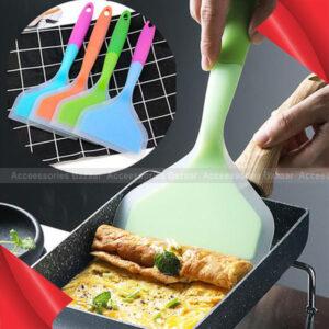 1Pc Turner Shovel Temperature-Resistant Non-Stick Pan Silicone Spatula