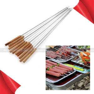12 Stainless Steel Metal Barbeque Skewer Needle BBQ Kebab Stick