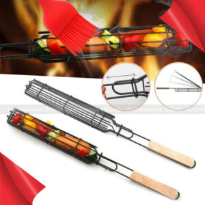 BBQ Grilling Stainless Steel Durable Anti Corrosion Wooden Handle