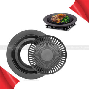 Nonstick Stove Top Grill Smokeless Pan Griddle For Indoor BBQ