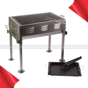 Charcoal BBQ Grill and Tandoor Berg Portable Folding Toaster with Stand