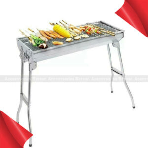 Folding Charcoal BBQ Grill Stainless Steel Outdoor Picnic Patio Cooking