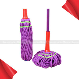 Easy Microfiber self wringing mop with Extended Handle Self twisting rotary Mop
