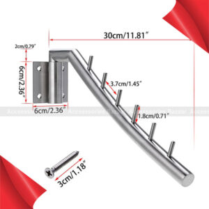 Stainless Steel Wall Mounted Clothes Hanger with Swing Arm Holder