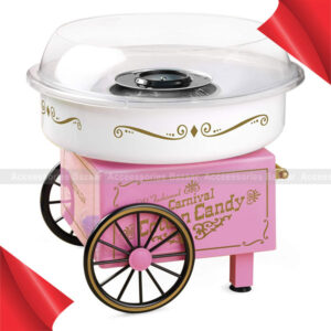 Cotton Candy Machine Cotton Candy Maker Fashion Mini Cotton Candy Machine Stainless Steel Bottom Groove, Ceramic Heating Tube