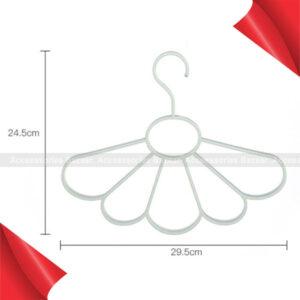 Scarf Rack Fan-shaped Hanger Multi-function For Drying Plastic Durable