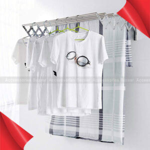 Space Saver Fold Away Racks Stainless Steel Wall Mounted Laundry Drying Rack