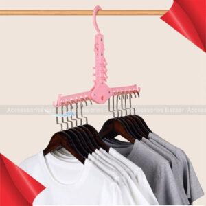 Multi-functional Hanger Telescopic Foldable Household Hooks Non-Slip Laundry Hangers
