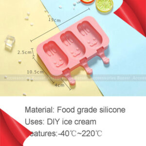 Silicone Ice Cream Mold With Cover Animals Shape Jelly  Ice Lolly Diy Moulds