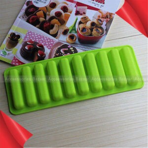 Silicone Cylinder Ice Cube Tray Mould Pudding Jelly Chocolate Baking Mold Maker