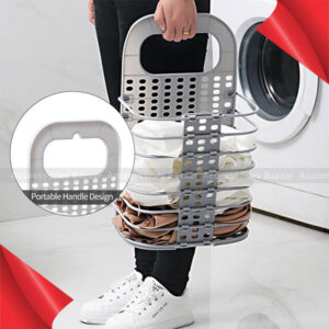 Household Laundry Storage Basket Collapsible Hamper Punching