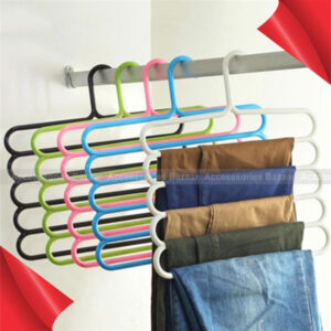 Multi-functional 5 Layers S Shape Pants Hanger Trousers Holder Scarf Rack Hold